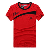 Male sports t-shirt Men casual wear short-sleeve sportswear sports uniforms running short t-shirt