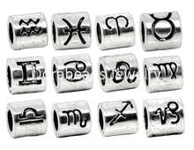 36 Mixed Zodiac Spacer Beads Fit Charm Bracelet (B08327), 8seasons(China (Mainland))