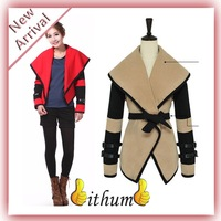 IFM 2013 New Hot Fashion Women Ladies Military Victorial Clothes Cape Jackets Outwear Big Turn Down Wool Winter Coat M-XXL