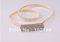 Women's Fashion Belt, ELASTIC Rhinestone Metal Belly Chain,  2colors(SILVER & GOLD) , Dress Decoration, FREE SHIPPING