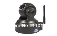 Free Shipping Night Vision Pan Tilt Indoor Plug and Play IP Cameras with Motion Detection