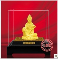YZ-R6043 24K gold craft gift / Gold Handicraft/Tibetan Buddhist Guanyin bodhisattva statue gold-plated buddha statue for prayer