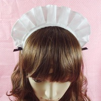 Princess sweet lolita hair accessory white lace hair bands cos hair accesories Cosplay maid hairband