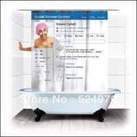 100% Authentic! 1pcs Social Shower Curtain, Facebook Style Shower Curtain,Bathroom Shower Curtain,New Authentic, Not Defective