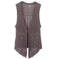 Autumn of  2013 female hollowed knitting cardigan sweater free shipping