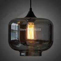 Dia 25cm Modern smoked candy jar glass pendant light wholesale+free shipping PL218