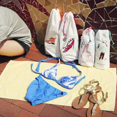 Travel storage bag waterproof shoe swimwear underwear socks plastic tote(China (Mainland))