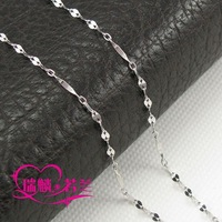 Double chain sparkling 2013 pd990 palladium necklace