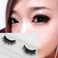 Fashion popular  natural mink hair handmade natural false eyelashes