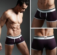 100% Cotton concise cosy Sexy Underwear man Boxer  XUBA Trunks Shorts,multi-color choose