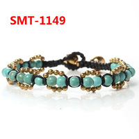 Retail! Vintage Style Women Jewelry Retro Bell Copper Alloy Beads Bracelet  SMT-1149 Free Shipping, Mix Style 5pcs/lot