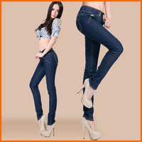 High quality denim women's jeans high waist pencil pants  2013 fashion Sexy woman big size