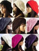 2014 Crochet Beret Braided Baggy Beanie Hat Ski Cap for Women Lady  Fashion,multi-color
