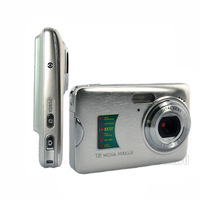 "2013 hot sell 2.7""TFT 12 Mega Pixels Digital Camera Silver"