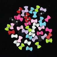 45pcs Mix Color Bow Tie Acrylic 3D Rhinestone Nail Art UV Gel Tips Decoration Freeshipping Feida Feida