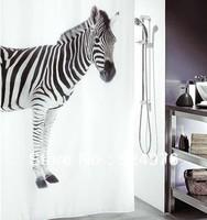 New Arrival! 1pcs Black & White Zebra Design Bathroom Fabric Waterproof Shower Curtains ( Designed by Switzerland ) High Quality