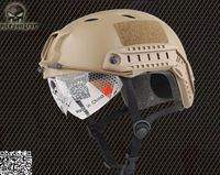 2013 NEW Emerson FAST Helmet with Protective Goggle Base jump helmet Military airsoft helmet Dark earth