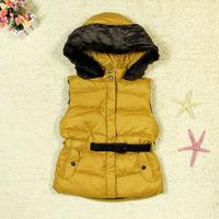 Westphal female child vest children's clothing thickening down vest down vest fashion 2253 family