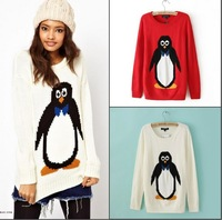 2013 Cute penguin pullover thick knitted jacket ! free shipping