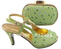 Free shipping!Italy design hot selling matching shoes and bags for party,women heels wholesale and retail