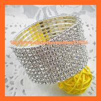 Free Shipping ! 10Rows Rhinestone Napkin Ring,Bracelate ,Rhinestone Buckle For Wedding Table Decoration