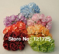 Free shipping Small paper flowers handmade crafts mesh tape roses artificial flower Small Wedding Bouquet Scrapbooking Decor