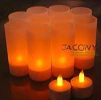 Christmas Rechargeable Flameless LED Candle Light+12 Lampholders Yellow Candles lamp