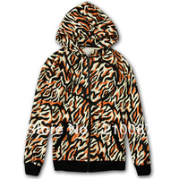 2013 A/W new arrival clot tiger Camouflage hooded sweatshirt