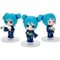 3pcs Bathrobe  kimono  Hatsune Miku anime figures pvc toys