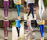 New style fashion pencil women's gold velvet leggings pants gold velvet trousers size S M L XL