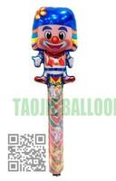 Free shipping  Clown Clap stick Balloon,clap balloons