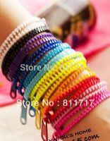 New Arrival Zip Bracelet Wristband Candy Bracelets Popular Zipper Bracelets Bands Mix Colors 300pcs/lot DHL Shipping