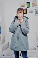 Winter maternity clothing maternity patchwork cotton-padded jacket top berber fleece maternity thickening wadded jacket