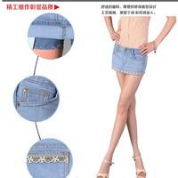 Big 2013 5007 slim hip mini skirt denim pants shorts