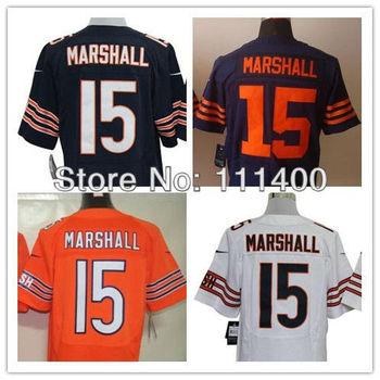 Free Shipping,#15 Brandon Marshall Blue White Orange Men's Elite Jersey,American Football Jersey,Stitched logos,Size 40-56