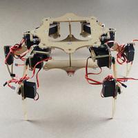 6 robot full set of steering gear mount  spider robot include 18 SG - 5010 steering gears