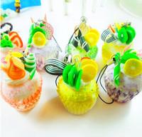 Free Shipping  Fruit cake creamy chocolate egg tarts beautiful simulation food chain pendant mobile phone small gifts