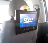 9 inch Car Headrest DVD Player with digital screen 800X480 resolution support 720P Video playing 32 Bit games DVD/CD/MP3/MP4