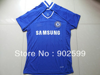 New arrival Chelsea 13/14 home blue fans version long sleeve best quality soccer jersey, Chelsea soccer jerseys