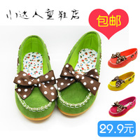 Free shipping Plus size child gommini loafers shoes children princess single shoes child leather child casual flat