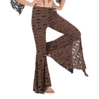 Indian dance clothes training pants dance pants belly dance trousers placketing cutout boot cut