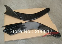 Universal Carbon Fiber Front Bumper Lip Add-on Spoiler Wing for Vehicles A Model Free Shipping