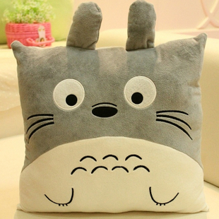 Isdell totoro cat cute pillow, sofa cushions, chinchillas lovely nap pillow birthday gift plush toys Large