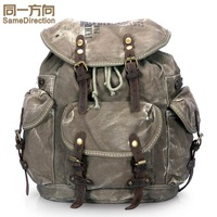 2013 vintage canvas bag backpack school bag travel hiking women's handbag male bl5267
