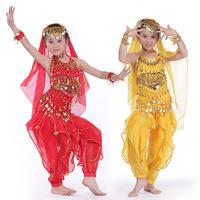 2014 61 child indian dance belly dance costume set children's dance performance wear