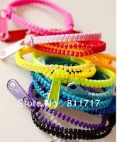 New Arrival Zip Bracelet Wristband Candy Bracelets Popular Zipper Bracelets Bands Mix Colors 50pcs/lot Free Shipping