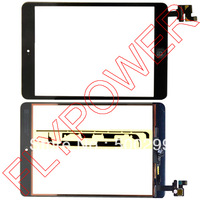 For iPad Mini Digitizer Touch Screen with IC Connector & HOME FLEX Assembly with free sticker by free shipping; 100% warranty