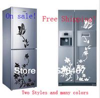 Hot sell! Butterfly Flower Refrigerator/Fridge/Art Wall Stickers / Wall Decals /House decor