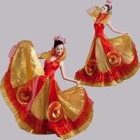 Expansion skirt spanish bull dance dress dance clothes