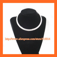 Free Shipping !2 Row Fashion Rhinestone Necklace ,Wedding Necklace ,Collar Necklace ,Evening Decoration,Party Accessories